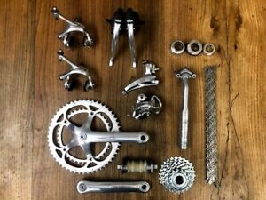 Campagnolo Record 8 speed groupset group set titanium headset seatpost MINT 170
