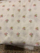 EUC Pink Rosebud Simply Shabby Chic Shower Curtain Cotton