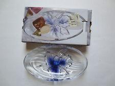"Studio Nova Orchid Glow Glass Oval Candy Dish 7"" x 4"""
