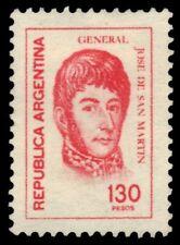 "ARGENTINA 1107  (Mi1346) - Jose de San Martin ""1978 Rose Red"" (pf22100)"