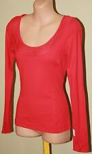 Womens Coral Long Sleeve Top with Thumb Holes - Lorna Jane - Size XS