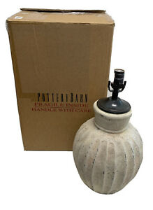 """Pottery Barn Anders Fluted Bedside Lamp 25"""" (No finial for Harp/No Shade) $180"""