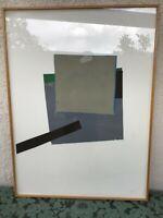 Mid Century Minimalist Art Collage Framed Painting