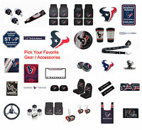 New NFL Houston Texans Pick Your Gear / Car Truck Accessories Official Licensed