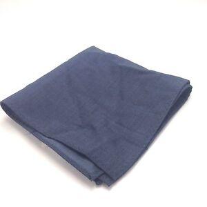 $125 Ryan Seacrest Men Solid Blue Dress Suit Handkerchief Casual Pocket Square