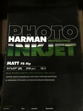 Harman HI MATTE FB MP, 11x17, 15 Sheets 1144183 Inkjet Paper