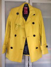 Manteau, veste créateur italien Tagliente jaune vif  cachemire laine viergeT36/s