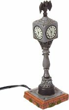 Department 56 Collections Lit Halloween Town Clock Figurine Village Accessory