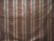 """Lee Jofa """"Amberden Stripe"""" cut velvet leopard fabric by the yard color cocoa"""