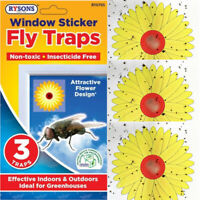 Fly Stickers Window Traps|Insect Killer Papers|Sticky Bug Catchers|Indoor Sheets