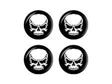 Tribal Skull on Black - Wheel Center Cap 3D Domed Set of 4 Stickers