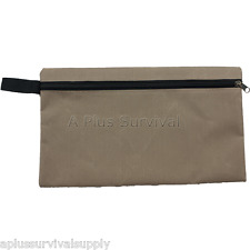 Extra Large Multi Purpose Brown Zipper Bag with Clip - First Aid Survival Kits