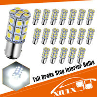 20x Pure White 1157 BAY15D 27-SMD Side Marker Backup Signal LED Light Bulbs 5050