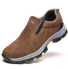 Mens Slip on Steel Toe Cap Safety Work Shoes Sneakers Hiking Walking Boots Shoes