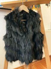 Kuschelige Weste aus Pelz von Gipsy schwarz Gr. S (fällt aber größer aus)