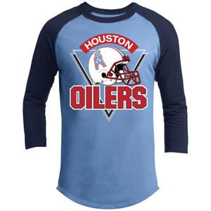 Retro, Houston Oilers, Texas, Football, Sports, 3/4 Sleeve Shirt
