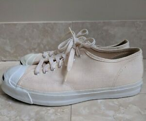VINTAGE MENS RARE 60s MADE IN USA PRE CONVERSE JACK PURCELL PF FLYERS 10.5 WHITE