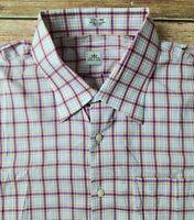 Peter Millar Performance Button Up Dress Shirt Multi Color Check Sz XL