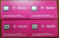TMobile 4G LTE NANO Sim Card . NANO SIM CUT (M). UNACTIVATE.