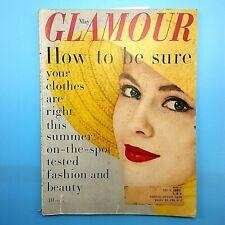 Vintage GLAMOUR Magazine May 1958 Fashion Beauty Great Ads Anthony Franciosa