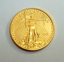 2016 1/10 OZ $5 WALKING LIBERTY FINE GOLD COIN, AMERICAN EAGLE, UNCIRCULATED