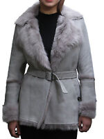 Brandslock Womens Leather blazer Jacket Genuine Sheepskin vintage