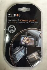 3 x Zeikos Universal Clear LCD Screen Guard Fits 1.5 to 5 inch Cut to Size Guide