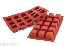 Stampo 15 cubi silicone Silikomart SF 105 multiporzione dolci torte cubo - Rotex