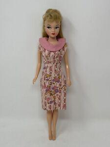 Vintage Barbie Miss Suzette CLONE Clothes Doll Outfit PINK Fruits Flowers DRESS