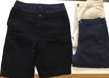Lot Of 4 Croft & Barrow Shorts Capri Pants Blue Black Khaki Womens 12