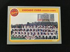 """CHICAGO CUBS """"DIVISION CHAMPS"""" 1985 """"SUPER SPECIAL"""" DONRUSS TEAM BASEBALL CARD"""