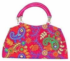 Indian Vintage clutch HandBag Tribal Multicolor Sewing embroidery Bag hand purse