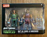 Ra's Al Ghul & Shredder Batman vs. TMNT Ninja Turtles Figures Set New Gamestop