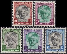 Luxembourg 1931 Child Welfare set sg 302-6 used