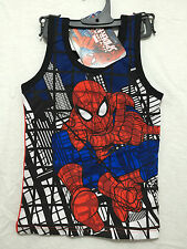 BNWT Boys Sz 5 Cool Spiderman Print Blue/Red Singlet/Muscle Tank Style Top