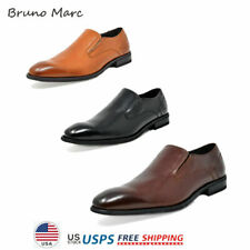 Bruno Marc Mens Genuine Leather Oxford Shoes Slip on Casual Shoes Size 6.5-13
