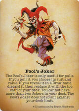 Doomtown: Fool's Joker [NM/Lightly Played] Boot Hill Edition Deadlands CCG