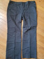 attention contemporary fit size 18 black with Pinstripes dress pants