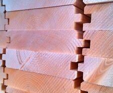 Perline legno mm. 35x195x4000 abete, doghe tavole incastro da rivestimenti