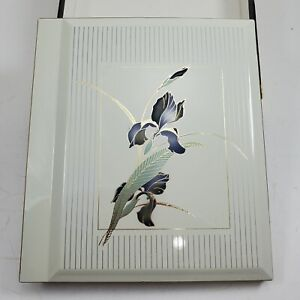 VTG OTAGIRI JAPAN Supreme Photo Album Book White Laquered Asian Floral 80s New