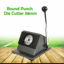 "70mm Graphic Punch Die Cutter Round Paper Card 2-1/4"" Button Maker Manual Badge"