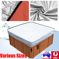 Universal Hot Tub Cover Cap Waterproof Weather Fabric Spa Cover Guard  」