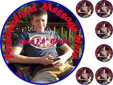 Your Picture Personalised 7.5 inch Edible Icing/Rice Wafer Birthday Cake Topper