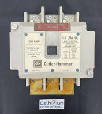 CUTLER HAMMER C825KN10 CONTACTOR 200 AMP 600V 3 PHASE 120-110V COIL A2 WARRANTY