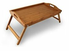 BAMBOO WOODEN FOLDING LEGS BED BREAKFAST DINER TV TRAY LAP TRAY