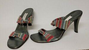 Donald J Pliner Knot Straps Slip On Slide Heel Sandals Women's Multicolor Sz.8