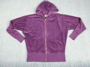 Vintage Juicy Couture Womens House of Juicy Velour Tracksuit Purple Top Size L