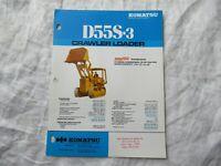 Komatsu D55S-3 crawler loader specification sheet brochure