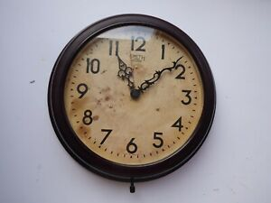 Smiths sectric 1950's wall clock Retro Bakelite.Converted  so fully working.