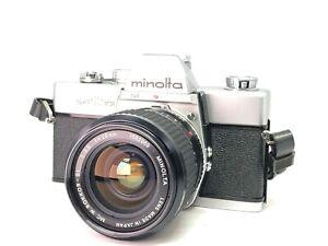 【As-is】Minolta SRT 101 w/ MC W.Rokkor S1 28mm f2.5 from JAPAN